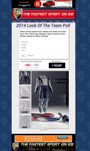 VALIANT_luge suit voting poll