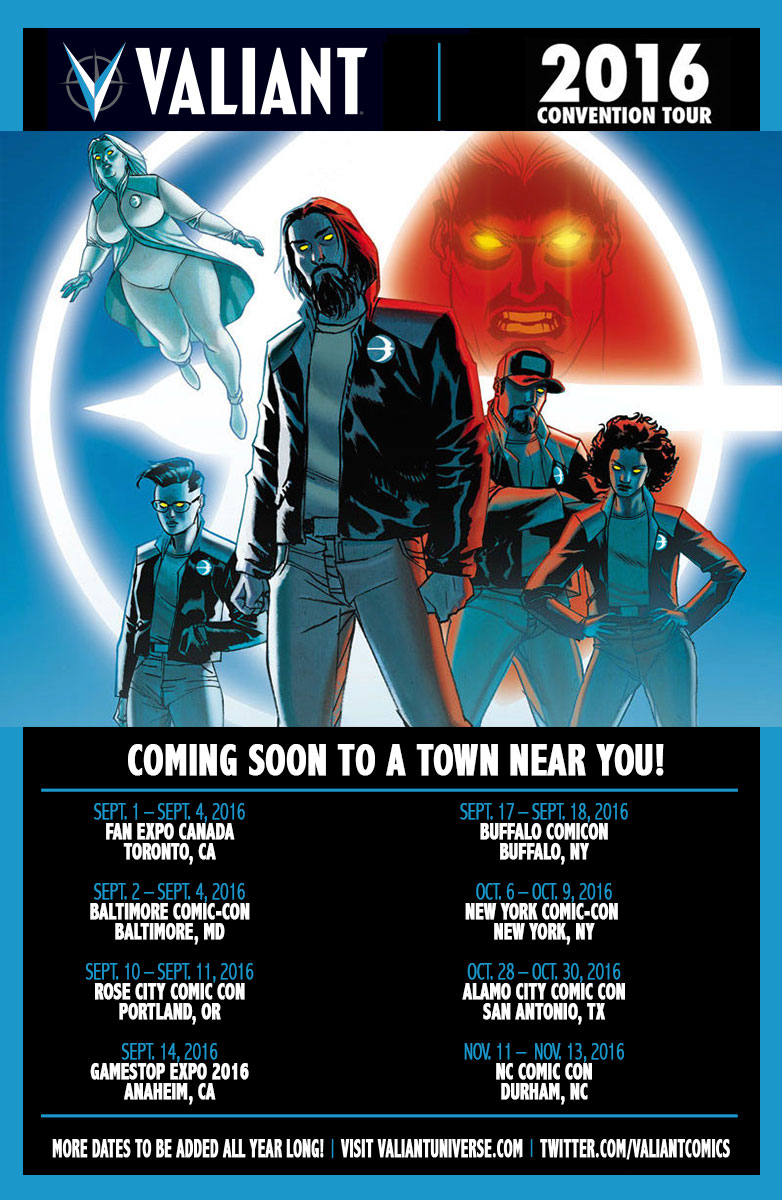 Valiant debuts at gamestop expo 2016 with collections merchandise con tour update promo johnson sciox Choice Image